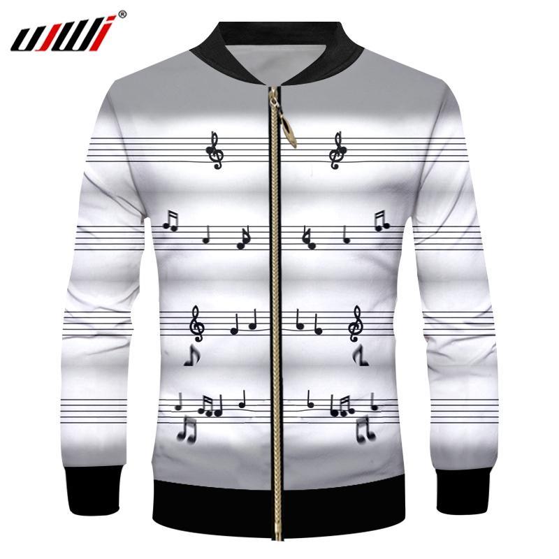 088312bf657 UJWI Winter Hot Sale Men S Sport Zip Jacket 3D Printed Musical Note Large  Size Leisure 5XL Spandex Man Zipper Coat Nice Mens Jacket Modern Mens  Jackets From ...