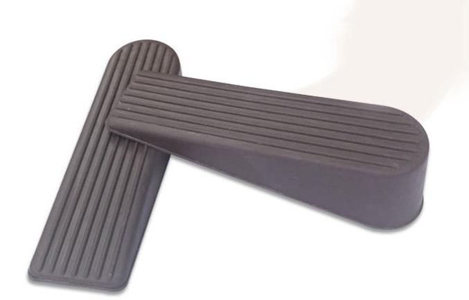 Rubber Door Stopper - Multi Surface Door Stop Wedge with Heavy Duty Design - Flexible and Non Scratching Door Holder