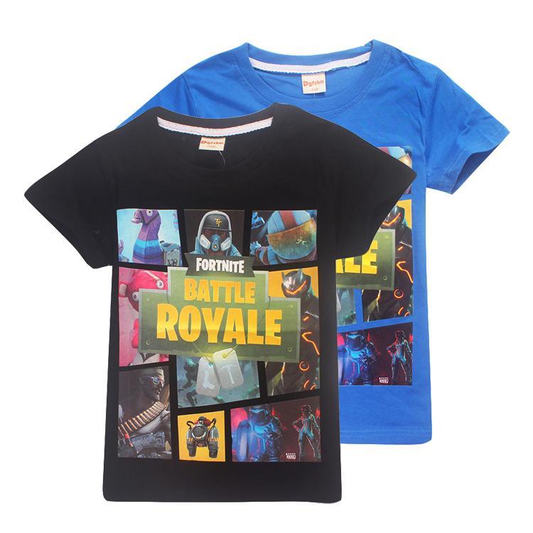 f7ef7e2a1cd42 Acheter Enfants Fortnite T Shirt 100% Coton 2 Couleurs 6 ~ 14 Ans Fortnite  Imprimé Enfants T Shirt Été Vêtements À Manches Courtes Enfants La951 De   6.47 Du ...