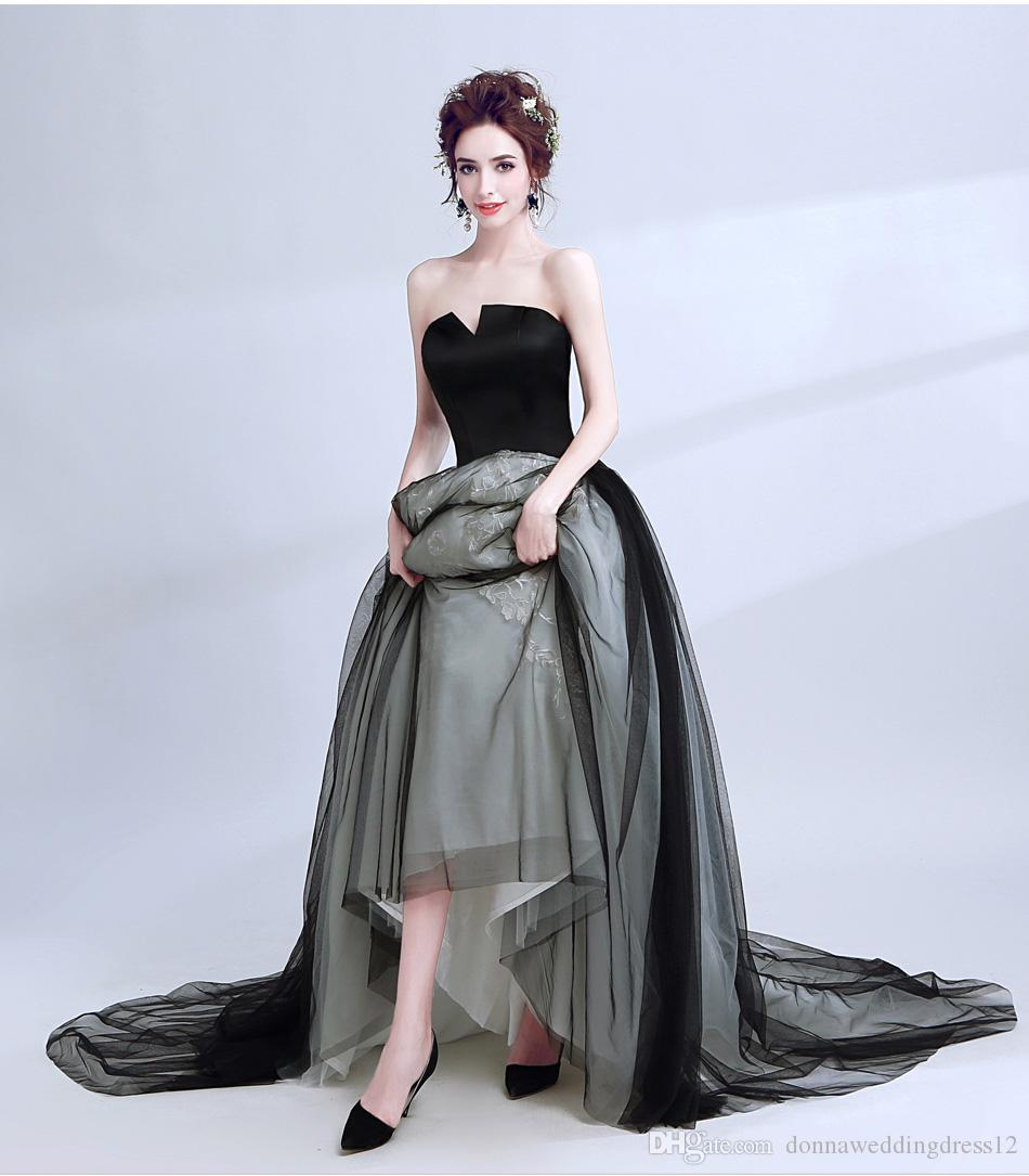 Cheap Pictures Dresses Shorter front Longer Back Discount Net Fabric for  Dresses c1d54cde6811