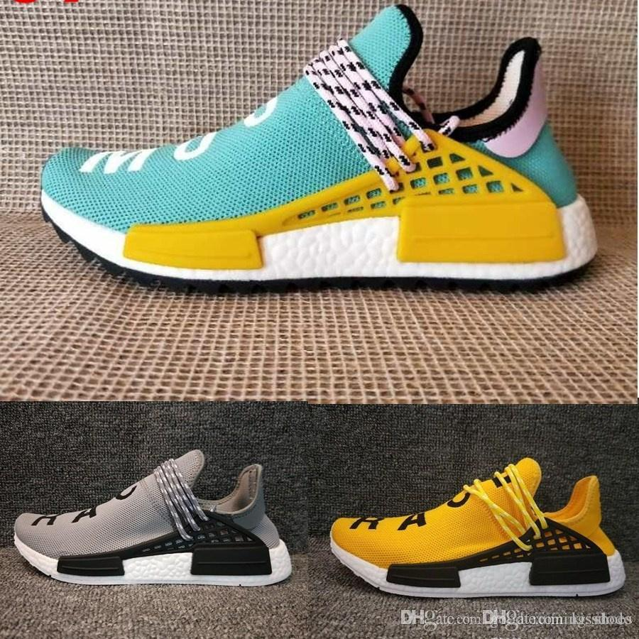 save off 7a235 020c0 Original Pharrell Williams Hu TR Shoes Human Race Running Shoes Runner men  and women Trainers Sneakers Boots Size 36-47