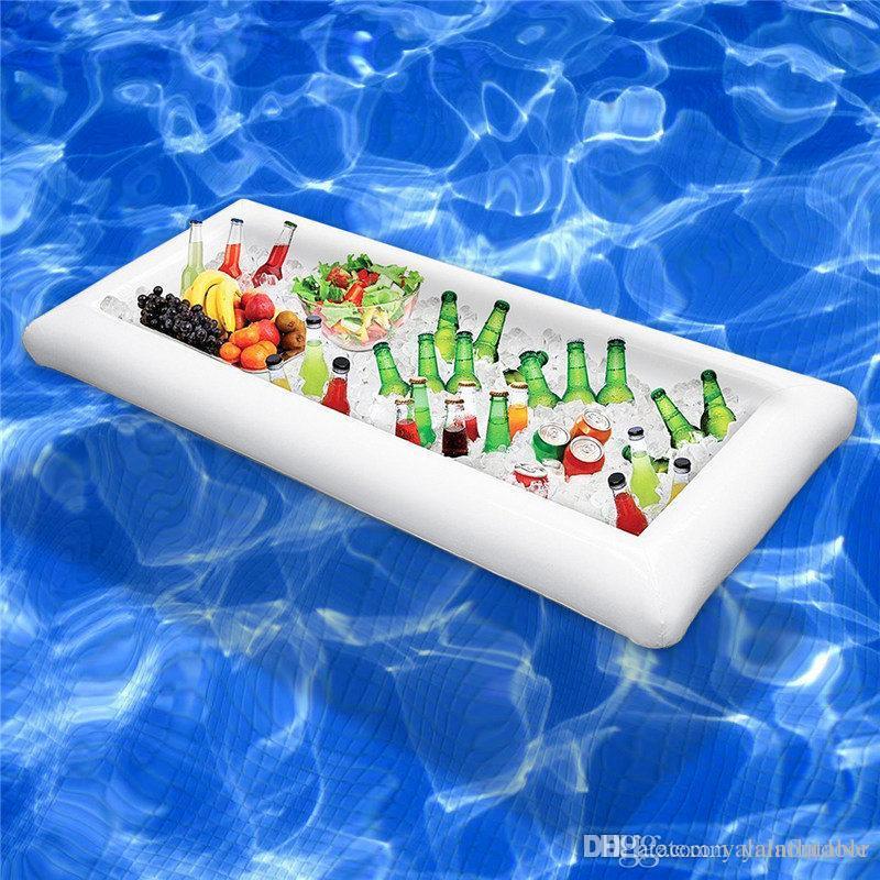 Inflatable Cooler Pool Bar Ice Bar Salad Bar Ice Bucket - Inflatable picnic table