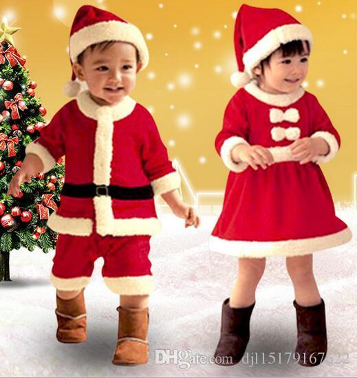 girls christmas costumes children christmas play costume santa claus dress up costume boys costume set funny halloween costume group costume from