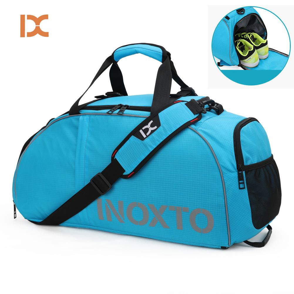 d1b6ca8e4973 2019 Waterproof Gym Bags Sports Fitness Double Shoulder Bag For Shoes Men  Women Travel Training Tas Rucksack Outdoor Gymtas Sack From Marchnice
