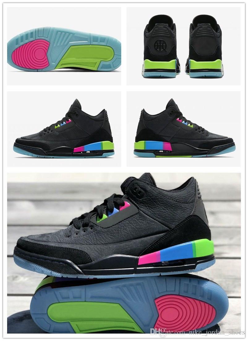check out 9e8b1 b531d Acheter Paris Tournoi De Basket Ball 3 Quai 54 Hommes Femmes Chaussures De  Plein Air Noir Électrique Vert Infrarouge 23 Couples Chaussures De Sport De  ...