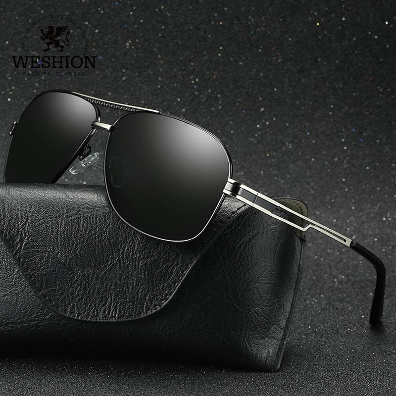 18b7a7e89f1ad WESHION Square Sunglasses Men Women Polarized Brand Designer Retro Classic  Driving Sun Glasses 2018 Shade UV400 Zonnebril Mannen Cat Eye Sunglasses  Round ...