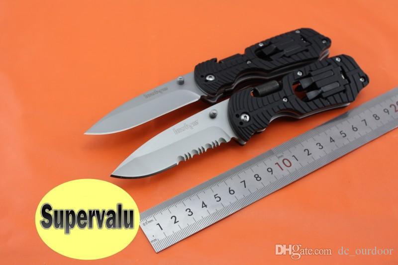 Kershaw 1920 Multi-function Camping Pocket EDC Cuchillo plegable Destornillador Kit de múltiples herramientas 8Cr13Mov Blade