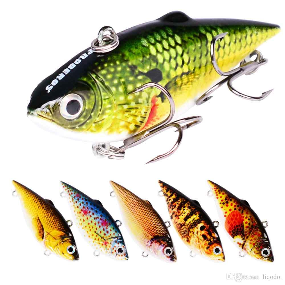"6PC Plastic Painting Fishing Lures 2.5""/8.64g Vib Pencil Bass Bait 6 Color Crankbait for Saltwater Fishing Tackle"