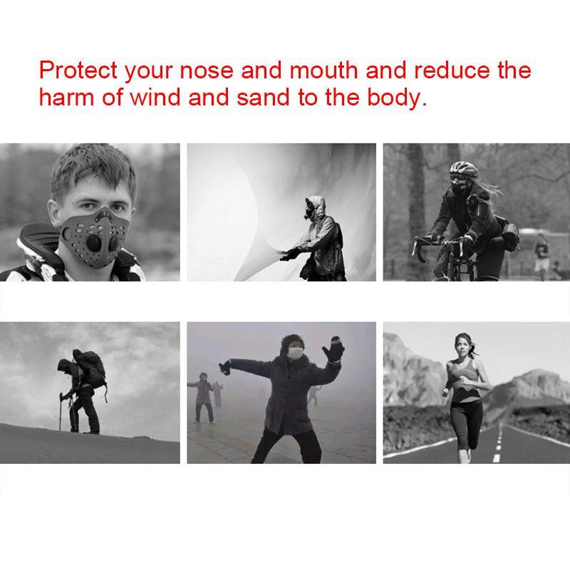 Mascarilla Facial De Ciclismo Máscaras Tibias Para El Oído A Prueba De Polvo  Con Filtro Anti Contaminación Para Montar A Caballo Esquiar B2Cshop Por ... 364f6d881db86