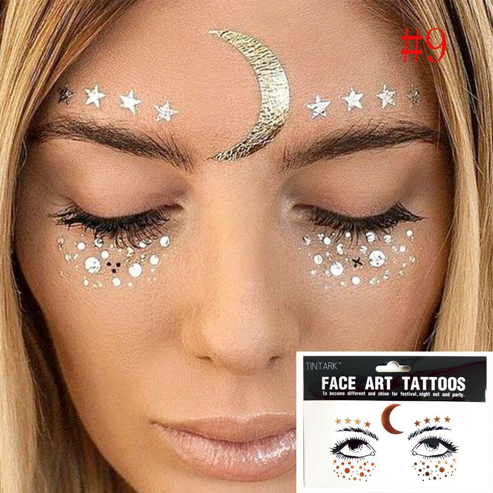 f1a502675b75f Fashion Disposable Gold Face Tattoo Stickers Waterproof Bronzing Beauty  Freckles Makeup Flash Body Art Sticker Fake Tattoo Glitter Tattoos From  Hairlove, ...