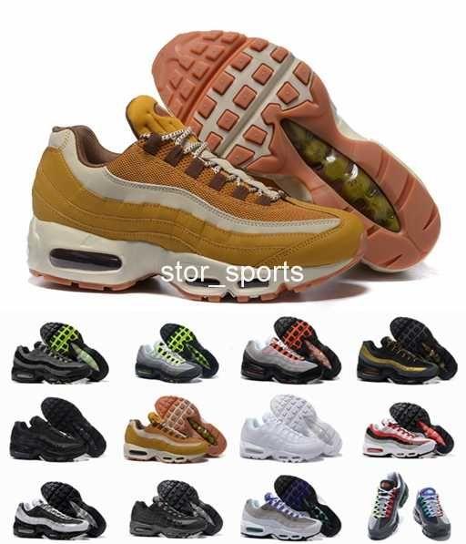 chaussures nike air max 95 Clásico 20 zapatillas de running Hombre mujer Cushion 95 zapatillas de deporte B auténticas M 95s Premium Neon Cool Grey