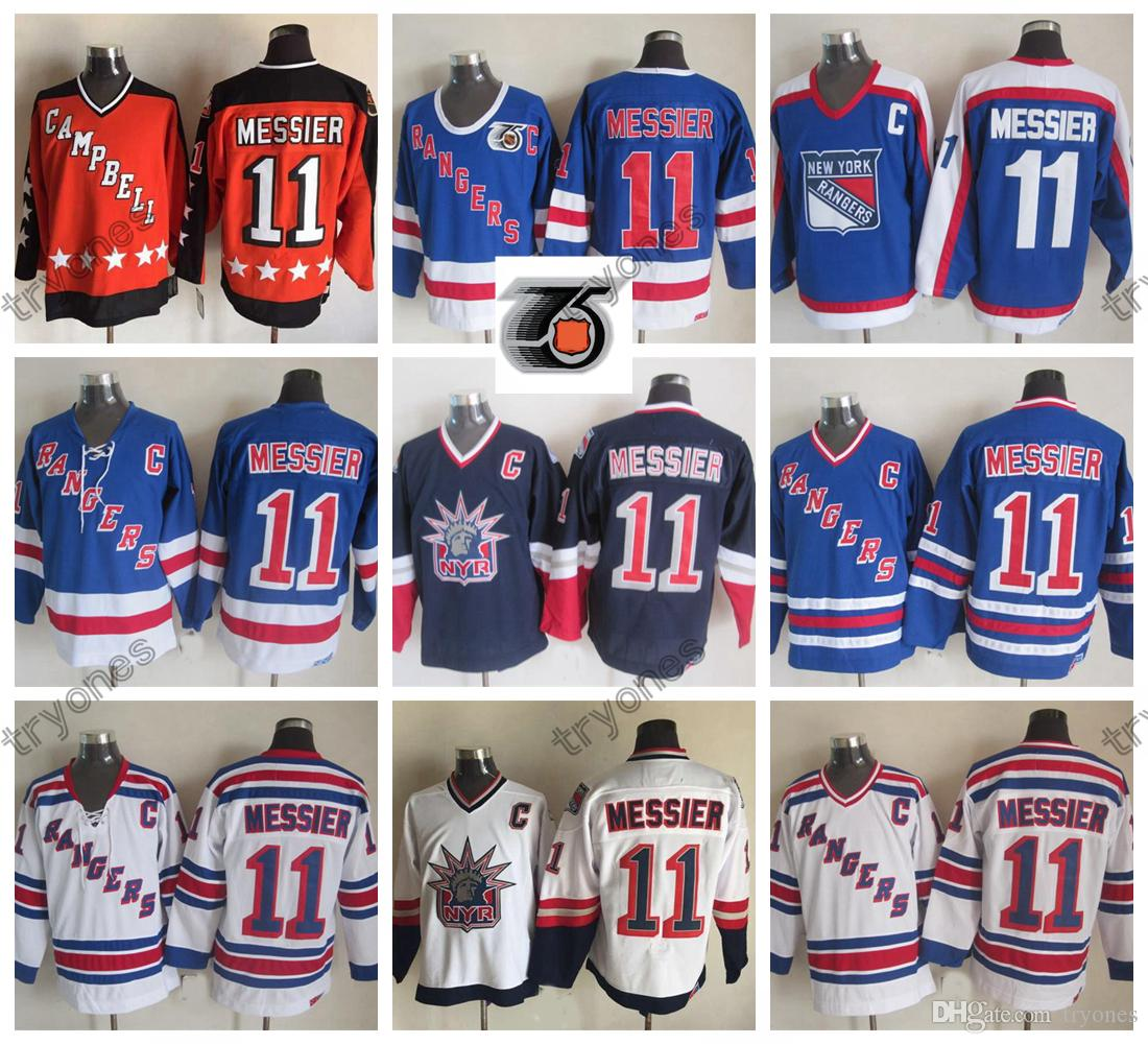 huge selection of e2bb6 9eaf2 1998 Liberty Vintage New York Rangers Mark Messier Hockey Jerseys Mens  All-Star Cheap 75th #11 Mark Messier Stitched Hockey Shirts C Patch