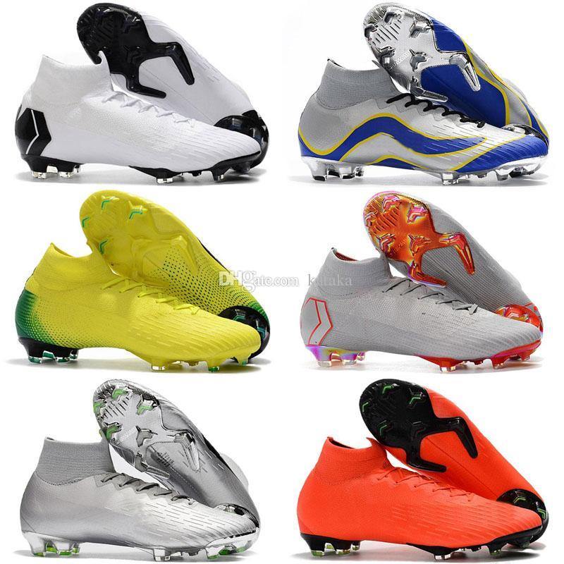 383a965214a88 Compre 2018 Nuevos Hombres CR7 Melhor Elite Ronaldo KJ VI 360 FG Zapatos De  Fútbol Botas De Fútbol Mercurial Superfly 6 Cristiano Ronaldo Hombres Tacos  De ...