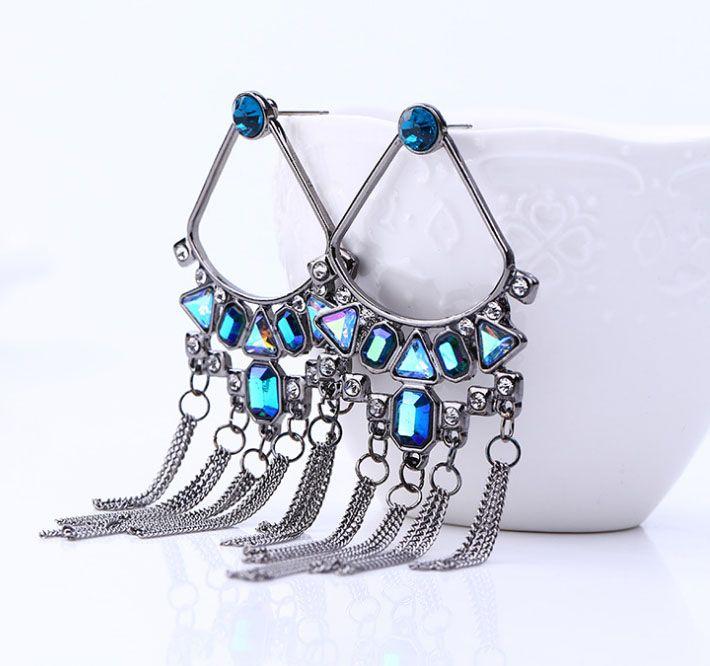 New winter fan fanning Tassel Earrings environmentally friendly plating