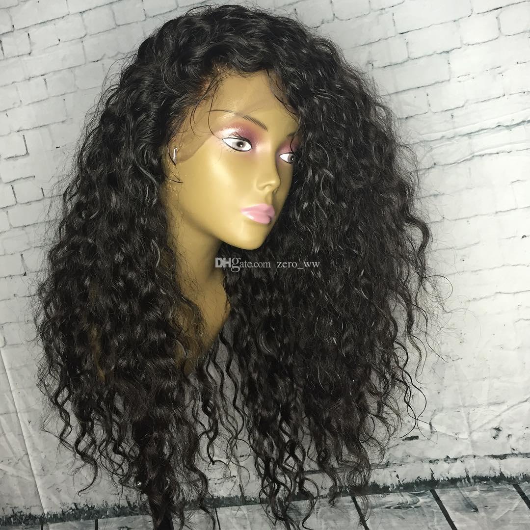 5*4.5'' Silk Top Full Lace Wigs 130% Density Deep Curly Brazilian Human Hair Silk Base Front Lace Wigs for Black Women