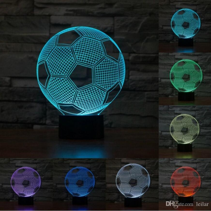 Strange 3D Football 7 Colors Decorative Table Prize Mvp Trophy Game Atmosphere Birthdays Light Toy World Christmas Sleep Light Gifts Home Remodeling Inspirations Basidirectenergyitoicom