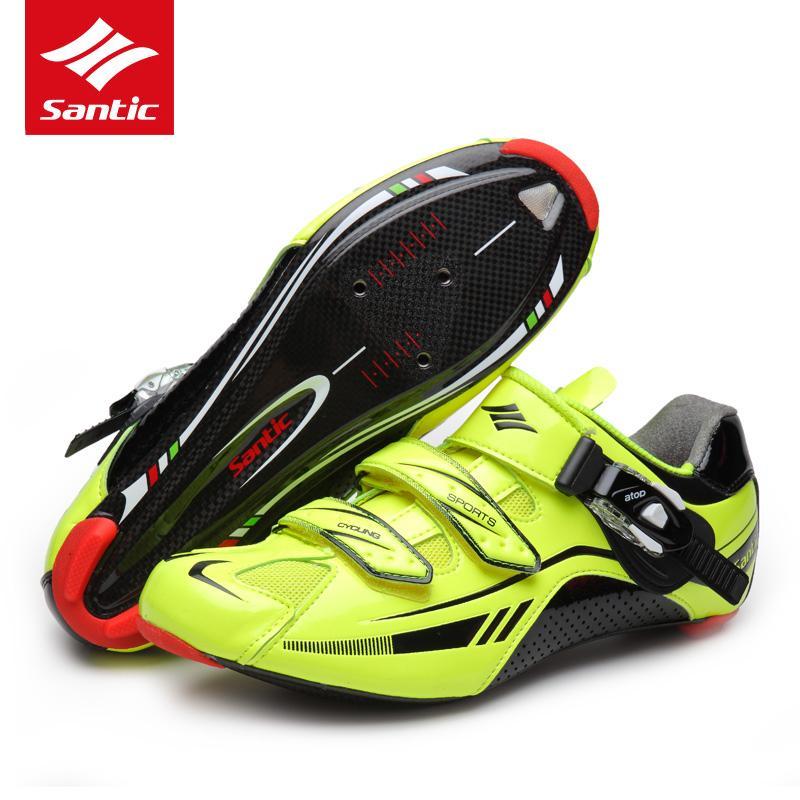new product 178de 22f5c vendita all ingrosso scarpe da ciclismo su strada in fibra di carbonio bici  da strada scarpe da corsa ultralight atletica autobloccante scarpe da ...