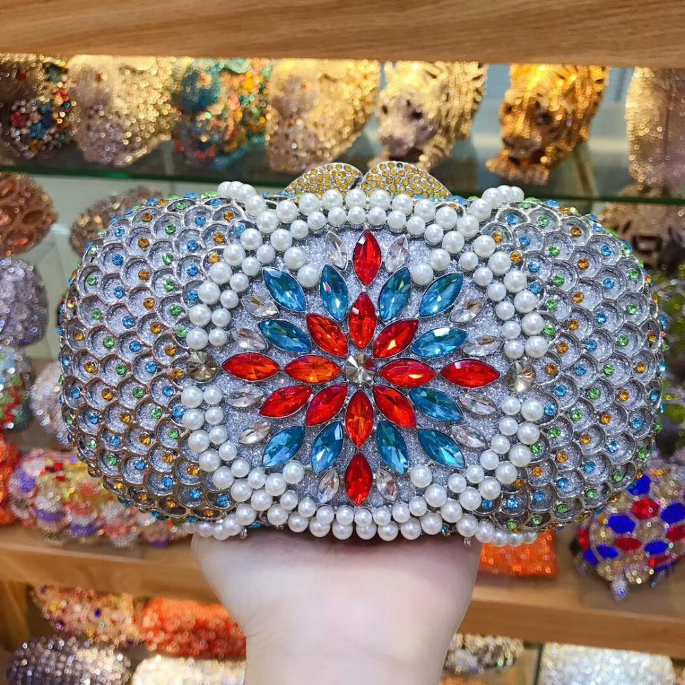 Xiyuan Brand Royal Bluegoldsilver Floral Crystal Diamond Day