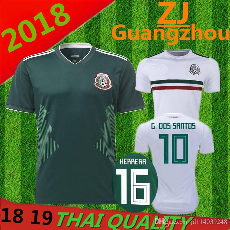 e45ecc8aa ... 2018 world cup mexico soccer jersey thai quality 18 19 g.dossantos  c.vela