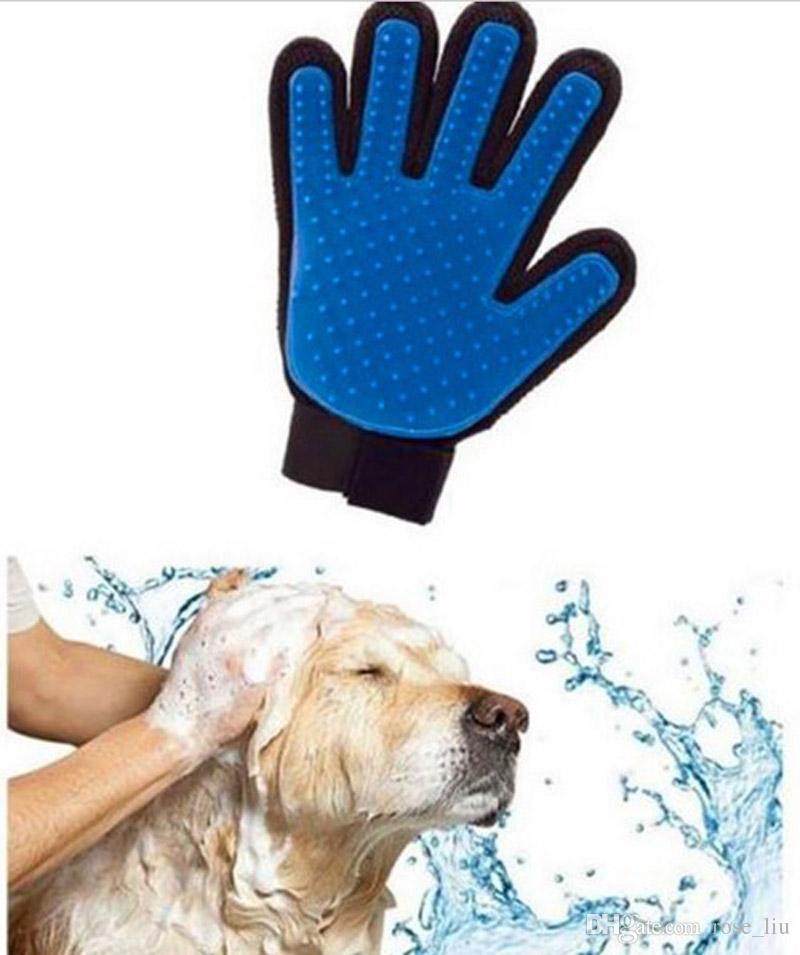 Nuevo Cepillo de Limpieza para Mascotas Peine de Perro Guante de Silicona Baño Mitt Mascota Perro Gato Masaje Depilación Depilación Magia Deshedding Guante B