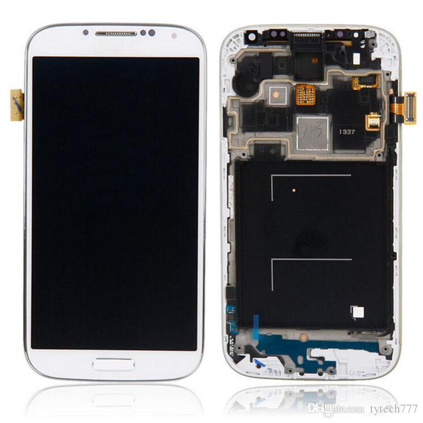 LCD For Samsung Galaxy S4 Screen Digitizer with frame Assembly Mobile Phone Display S4 I9500 I9505 LCD Touch Screen Assembly