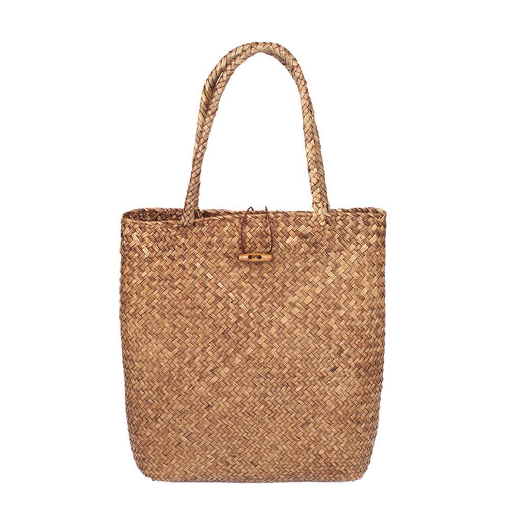 Hand Woven Large Rattan Straw Bag Flower Basket Storage Tote Female ... bde30871f97dd