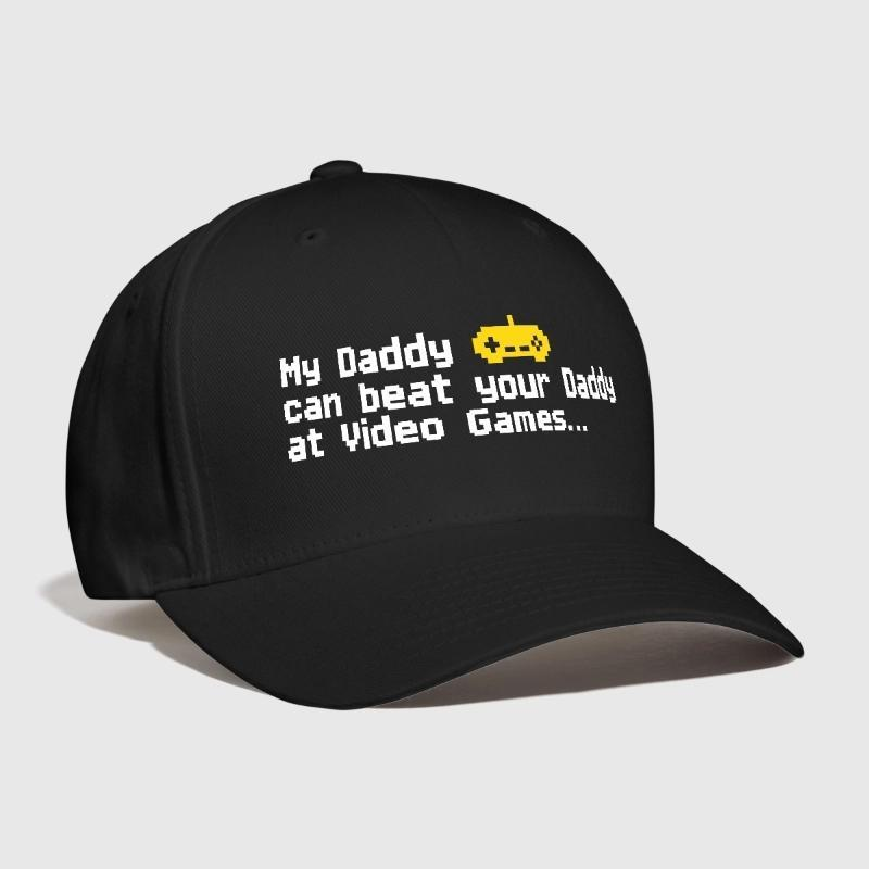 5a6f9af7c33b3 My Daddy Can Beat Your Daddy At Video Games Letter Embroidery Customized  Handmade Player Joystick Funny Shooter Curved Dad Hat Flat Bill Hats  Baseball Hat ...