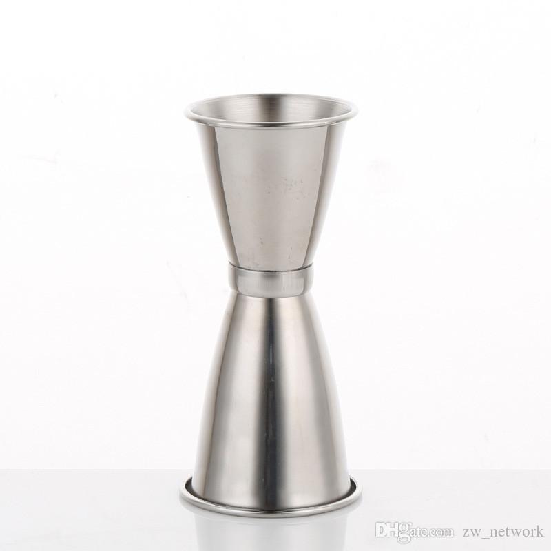 S / M / L الفولاذ المقاوم للصدأ مزدوجة الوالج شوت شراب قياس كأس كوكتيل شرب النبيذ بار شاكر اوقية مزدوجة الكأس