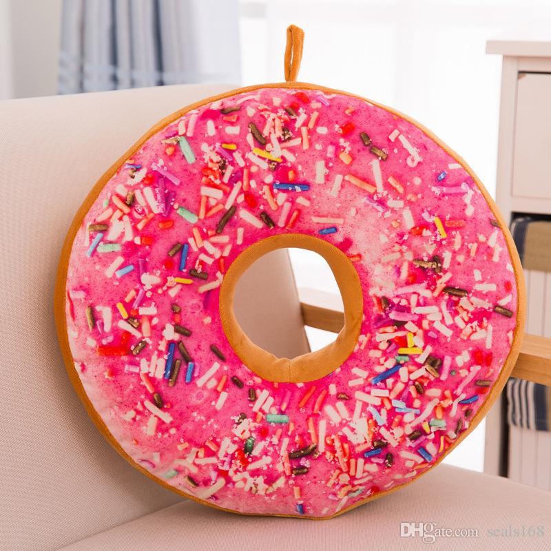 Yaratıcı Karikatür Donuts Yastık Kanepe Sandalye Dekoratif Yastık Moda Peluş PP Pamuk Yastık Oyuncak Hediye 40 CM Ücretsiz Kargo HH7-796