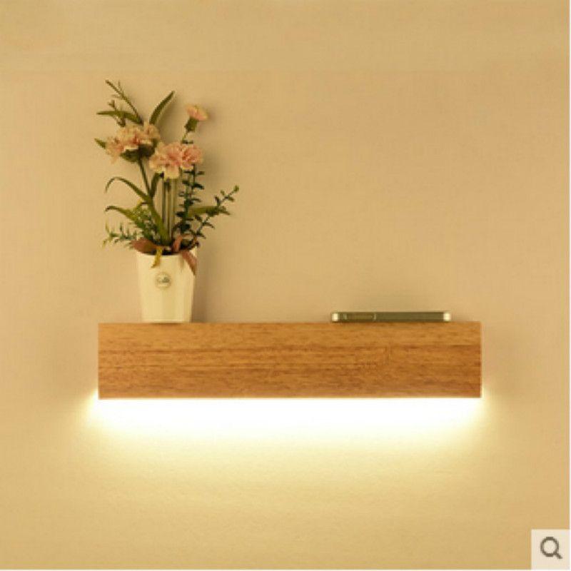 Acheter Simple Lampe Murale En Bois Chambre Led Lampe De Chevet