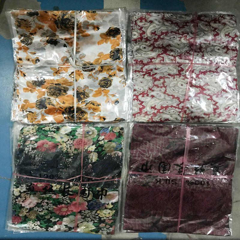 Gruby kolor jedwabny szaliki jedwabne szalik męskie Damskie mnóstwo kolorów Mieszane 20 sztuk / partia gorąca