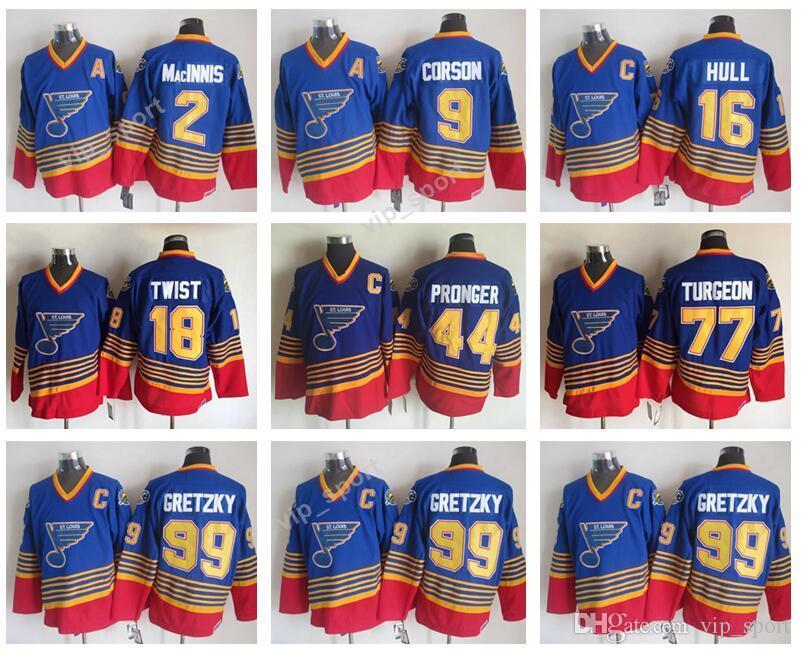 cc6d0cc0 ... sweden 99 wayne gretzky jerseys men st. louis blues hockey 2 al  macinnis 16 brett