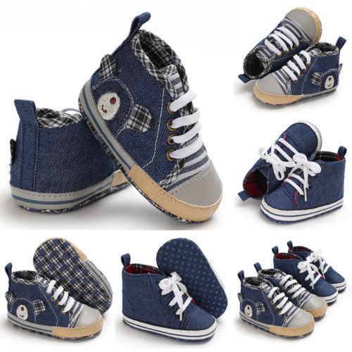 3fe4ebbaef1 2018 Fashion Newborn Baby Boy Girl Pre Walker Soft Sole White Pram Shoes  Trainers Casual Shoes Size 0 18 M Cool Running Shoes For Kids Cheap Girls  Tennis ...