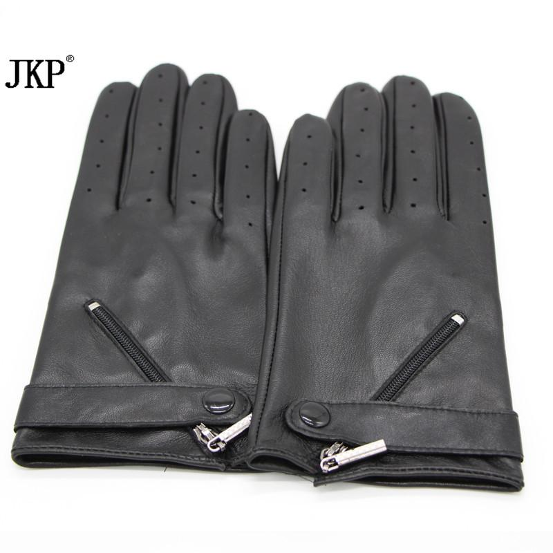 2018new fashionWomen's Long Genuine Leather Warm Gloves Hot Black Sexy Party Evening Adult Winter Mittens Real Leather Gloves