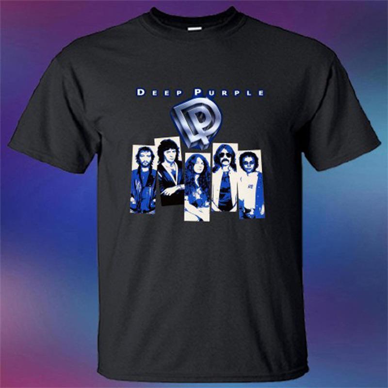 new product 99037 bb03b Online T Shirt Druck Neue Deep Purple Rock Band Oansatz Kurzarm Bester  Freund Shirts Für Männer