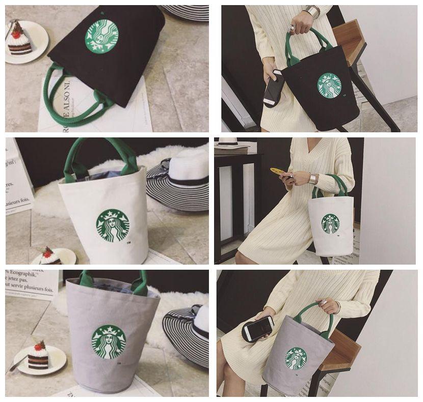 f136f1814b3f Starbucks Print Lady Canvas Tote Bag Handbag Barrel Shape Shoulder Shopping  Lunch Bag Shopping Bag LJJK958 Evening Bags Handbag Sale From  Jingjingliang no4