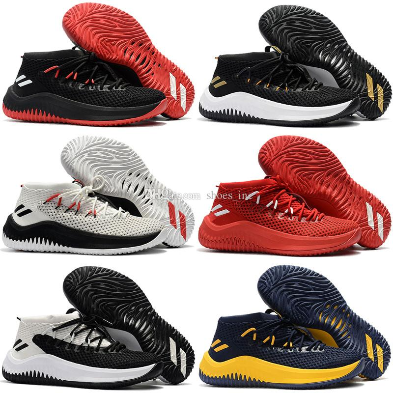 2019 2017 New D Lillard 4 Basketball Shoes Dame 4 Rip City White Black Red  Un Dyed Signature Sports For Men Brand Sneakers 7 12 From Shoes inc 7f84174fe