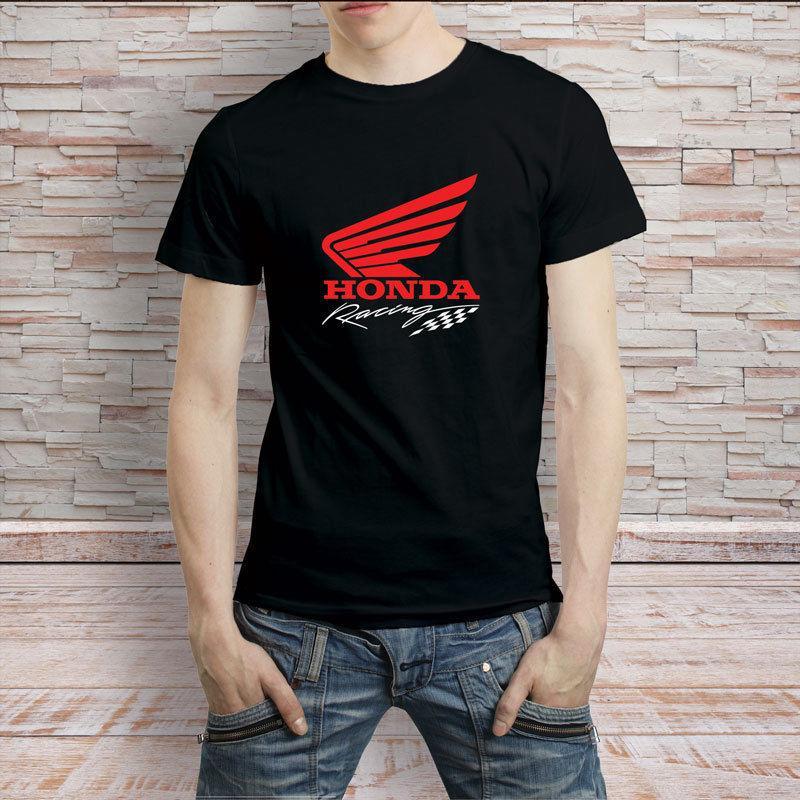 c830545e5 Honda Racing Logo Black T Shirt Men'S Tee Crazy T Shirts Online Cool ...