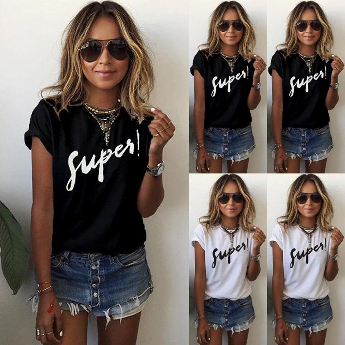 8786b73e95e9c Satın Al Bayan Mektup Bluz T Shirt Kısa Kollu Rahat Gevşek Yaz Yuvarlak  Boyun Tee Gömlek Tops Artı Boyutu S 5XL, $6.03 | DHgate.Com'da
