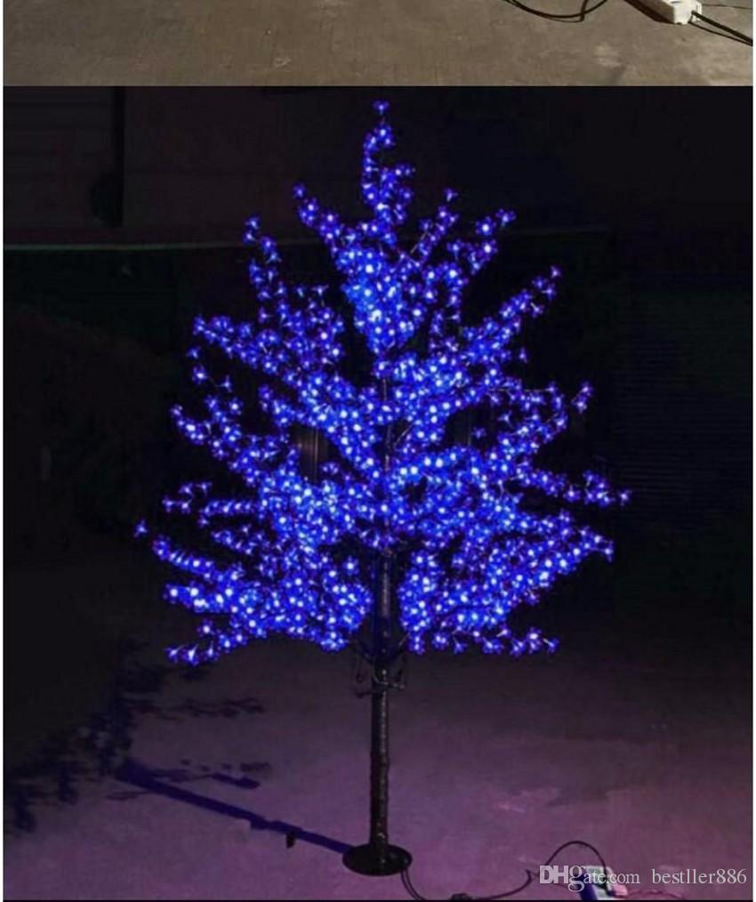 LED Yapay Kiraz Çiçeği Ağacı Işık Noel Işık 1152 adet LED Ampuller 2 m / 6.5ft Yükseklik 110/220 VAC Yağmur Geçirmez Açık Kullanım Ücretsiz Kargo