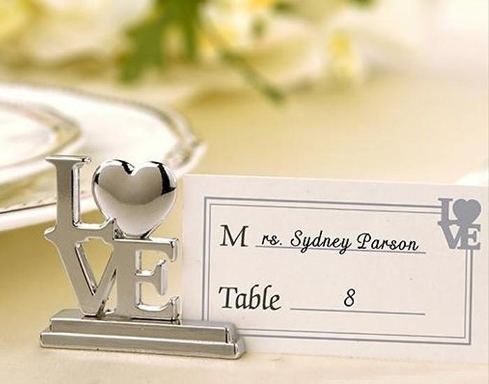 200 unids lugar titular de la tarjeta y 200 unids tarjeta llana Love Wedding Table Place Holder Ducha nupcial Souvenirs de boda Favor