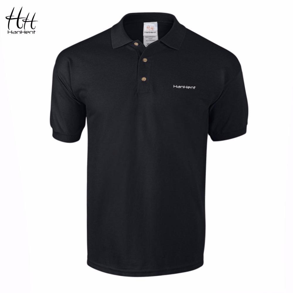 X82601hanhent Embroidery Logo Polo Shirt Men 100 Cotton Business