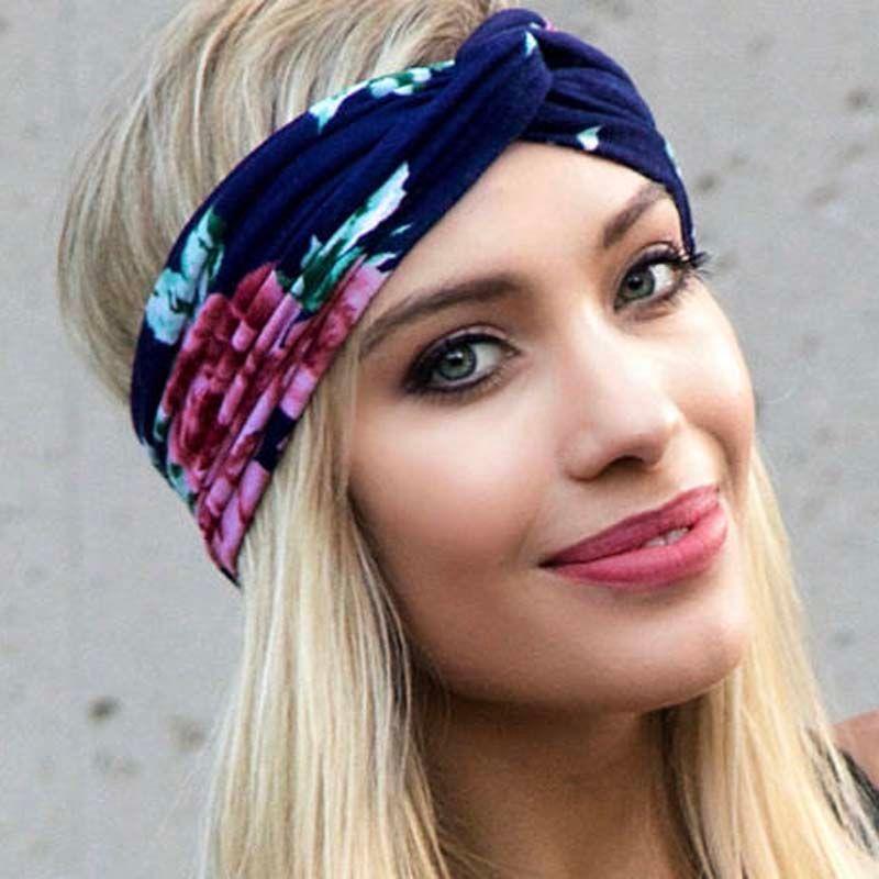 Hot Women Floral Bohemian Hippie Gypsy Turban Headband Soft Wide Headbands  Retro Hair Accessory Bandeau Summer Beach Hair Band UK 2019 From  Gathertopfashion ... e8af74f8ebb