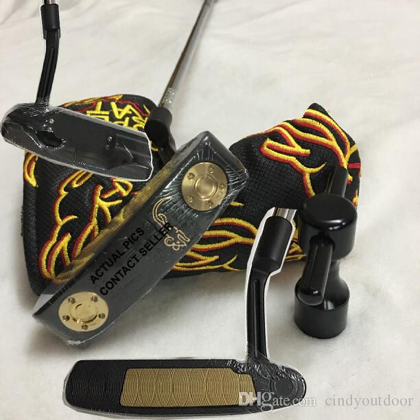 2018 TOP Quality Black&Gold Super R A T Golf Putter Removable Weights Actual Pictures Contact Seller