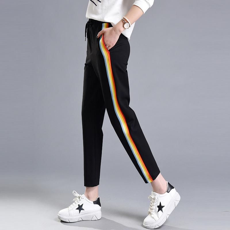 8691d938c6076b Autumn New Style Pants Women Sweatpants 2019 Spring Black Cotton Polyester  Plus Size Female Casual Trousers Online with $40.11/Piece on Your09's Store  ...