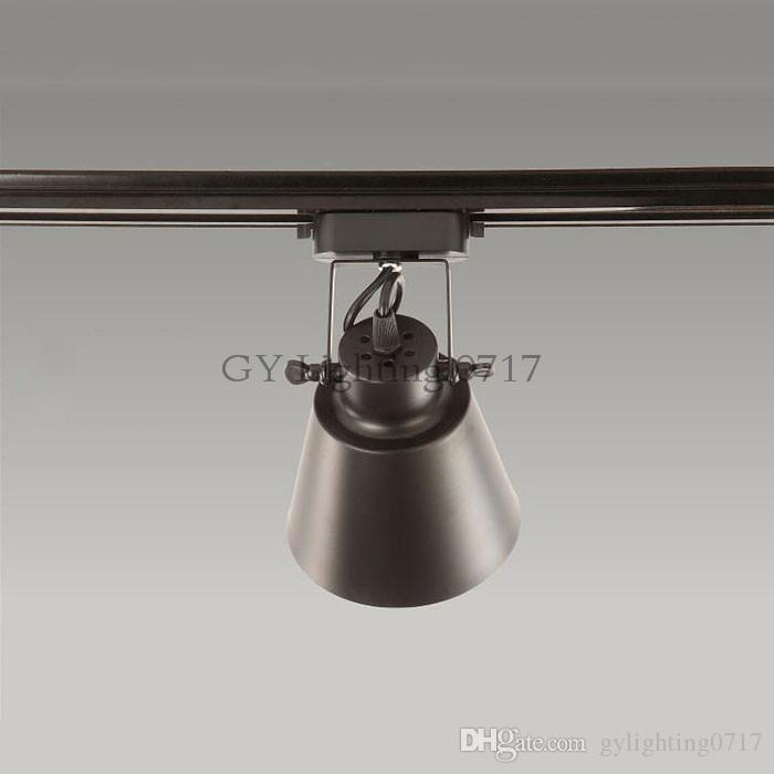 Siyah rustik LED Parça Işık COB 10 W Tavan Raylı Işıklar spot Mutfak Sabit Giyim Ayakkabı Mağazaları Mağazalar Için Parça aydınlatma