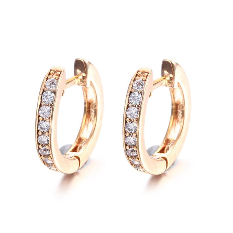 Vintage Aretes Gold 585 Plated Hoop Earrings For Women Boucle D ... a13772b4f2e6