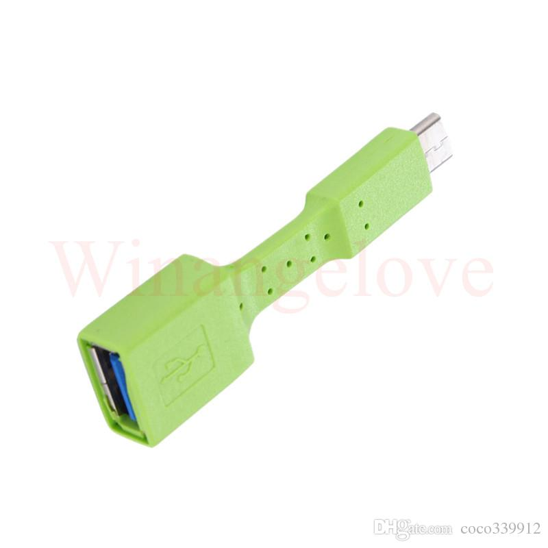 Colorful Micro USB OTG Type-C UCB OTG Micro Type-C Adapter For Cell Phone Table PC Connect to U Flash Mouse Keyboard
