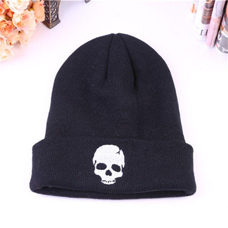 aa7ac8faed0 Skull Beanies Logo Wool Beanies Knit Men S Winter Hats For Men Women Beanie  Warm Hat Crochet Hat Cotton Hat Snapback Caps Fitted Hats From Menceng1986