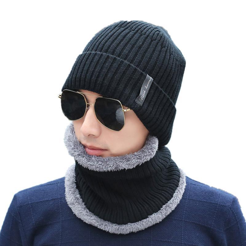 b889d533 2018 Hot Wool Winter Hats Skullies Beanies Hat Winter Beanies For Men Women  Scarf Caps Balaclava Mask Gorras Bonnet Knitted Hat